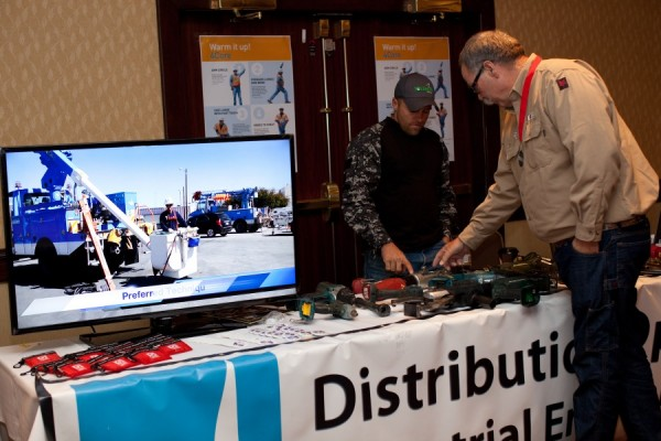 Representative showcasing samples from the Electric Tool Deployment Initiative, which earned a silver medal at the awards ceremony.